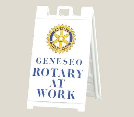 Geneseo Rotary Club sign board 